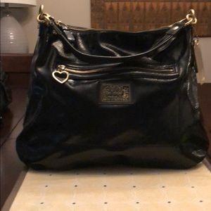 Coach F20108 Daisy Liquid Gloss Hobo Black Handbag